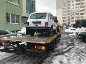 Извозване на чисто нов автомобил Ваз Лада Нива - Пътна помощ