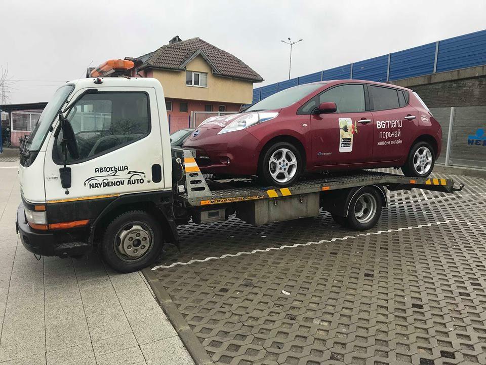 Nissan LEAF (ZE0) и Пътна помощ - Закъсала електричка този път на BgMenu