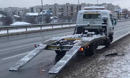 Пътна помощ - тип с лебедка и неподвижна платформа