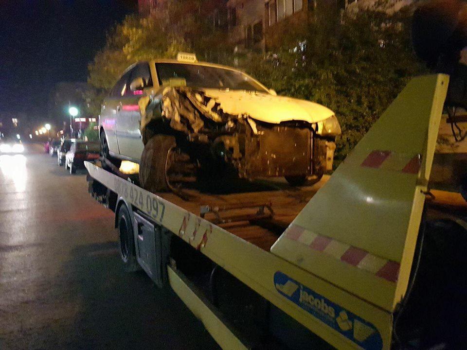 катастрофа такси - софия - пътна помощ