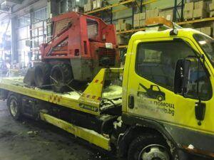 мини багер - пътна помощ превоз