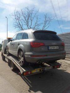 Част от деня: Превоз на джип Audi Q7 - Пътна Помощ 24/7 RoadHelp.bg