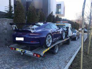 Porsche 911 GT - превоз за състезание в Серес 6