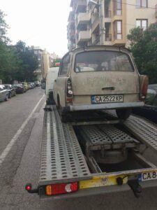 Пътна помощ за ретро автомобили, професионално отношение и укрепване на товара!