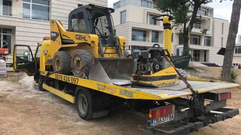Превоз на строителна техника - Пътна Помощ 24/7 RoadHelp.bg