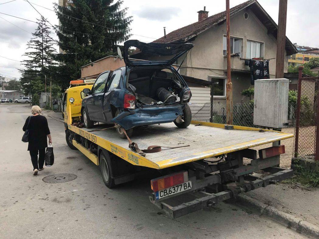Тежка катастрофа в София - Пътна Помощ 24/7 RoadHelp.bg