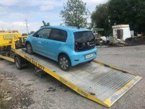 Репатрак София - Поредния закъсал VW eUP електромобил spark.bg - Пътна помощ