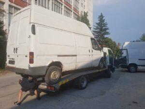 Катастрофа в София - пътна помощ за бус Ford Transit - репатрак софия