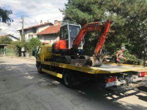 Превоз на строителна техника - Пътна Помощ 24/7 RoadHelp.bg Репатрак